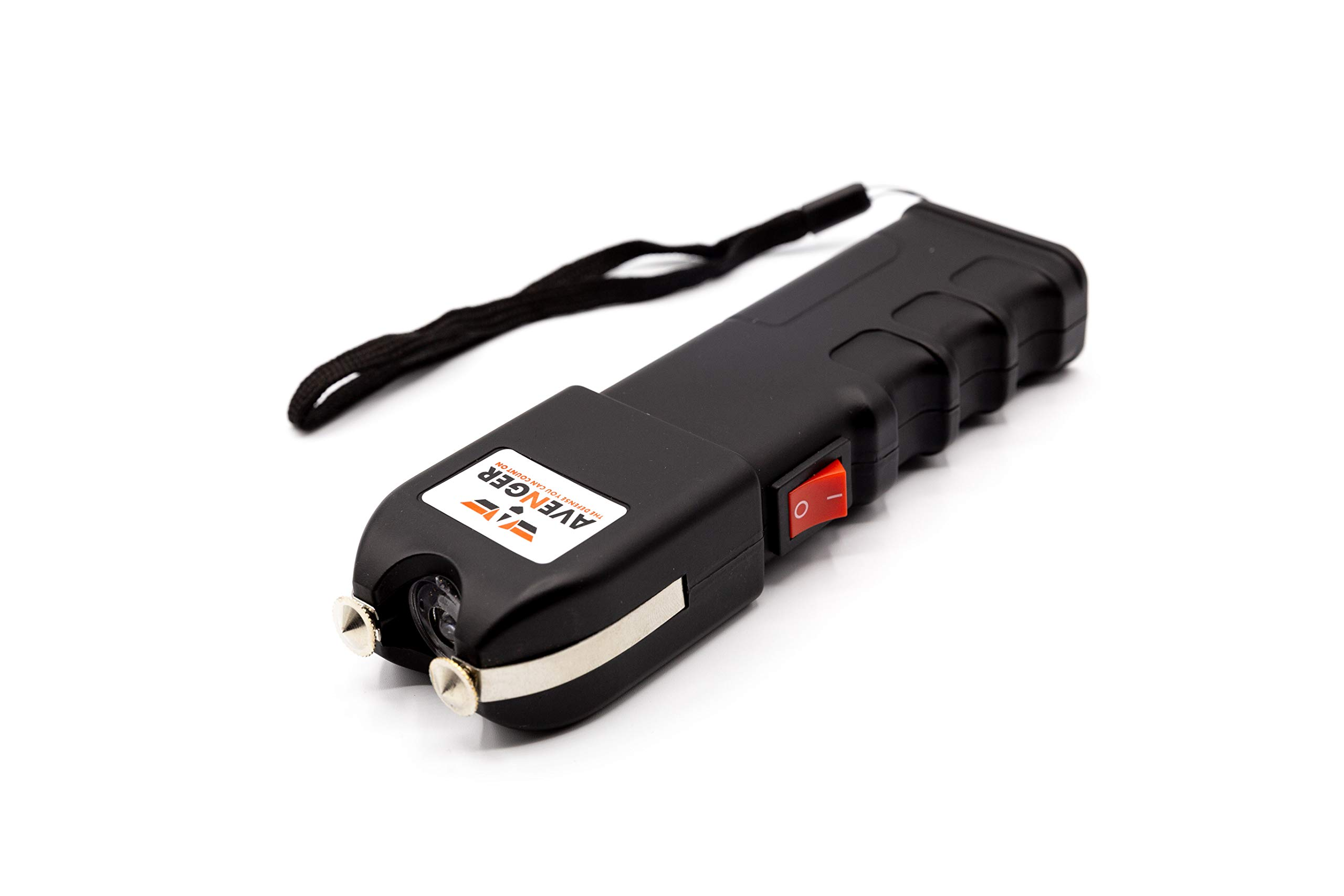 Avenger Defense Portable Stun Gun - Extremely Powerful Rechargeable Stun Gun for Self-Defense and Protection - Built-In Flashlight and Carrying Case - Intimidating and Comfortable Design - Loud Noise by Avenger Defense