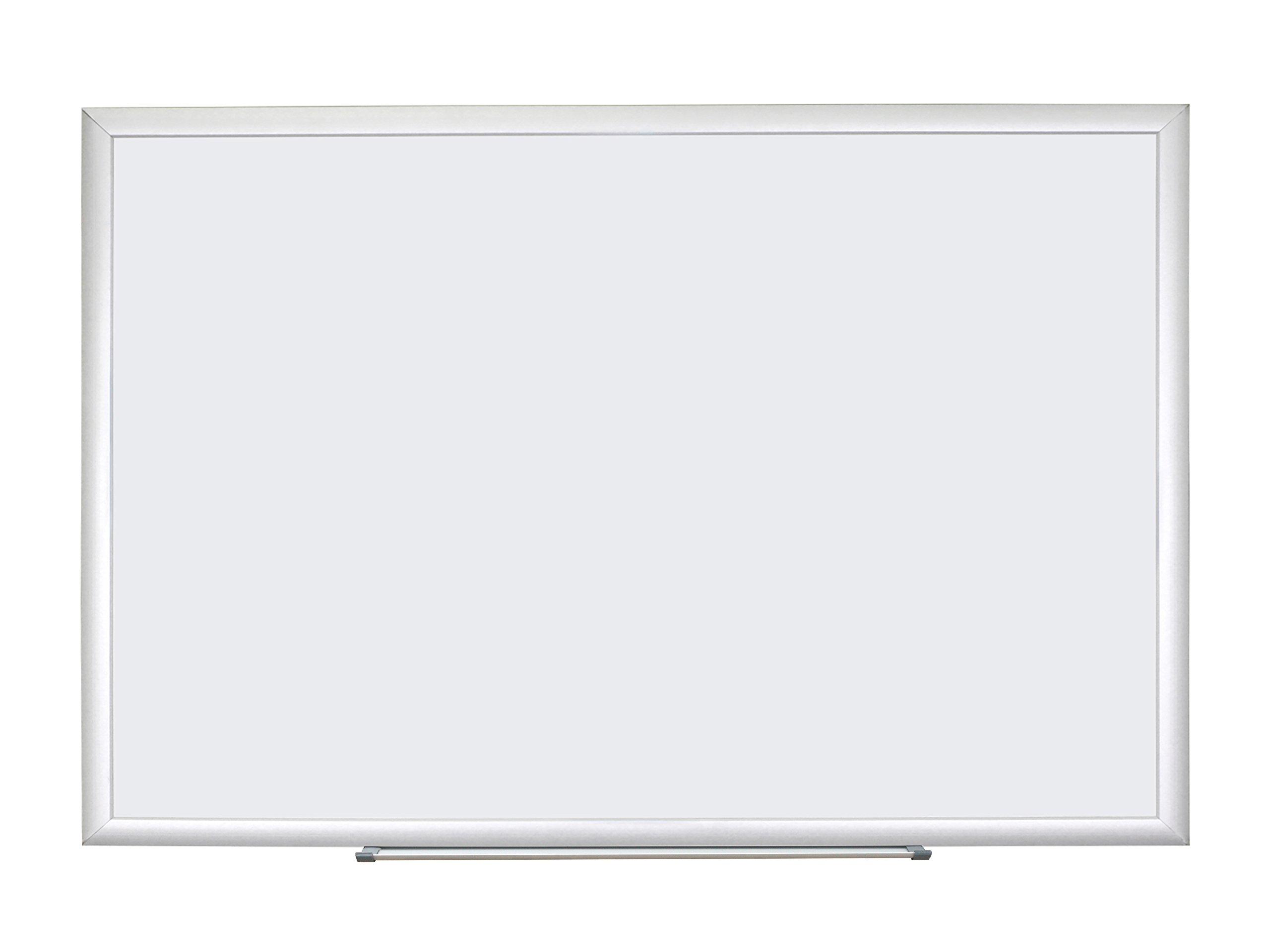 U Brands Basics Dry Erase Board, 70 x 47 Inches, Melamine Surface, Silver Aluminum Frame