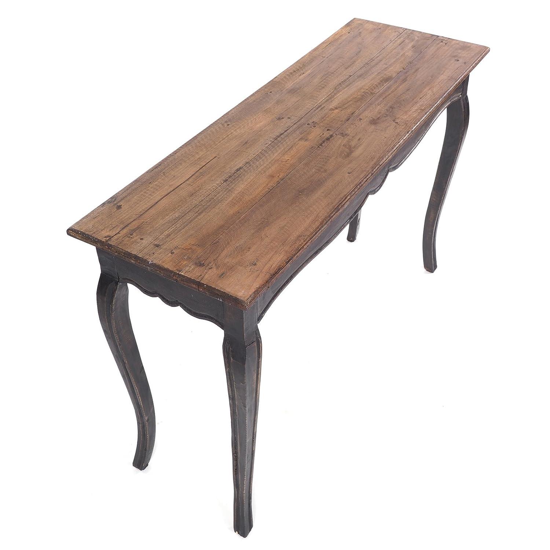 Tavolino consolle di Design in Legno Riciclato Colore: Nero Naturale Stile Shabby Chic L/üllmann ROKO 115 x 72 x 40 cm