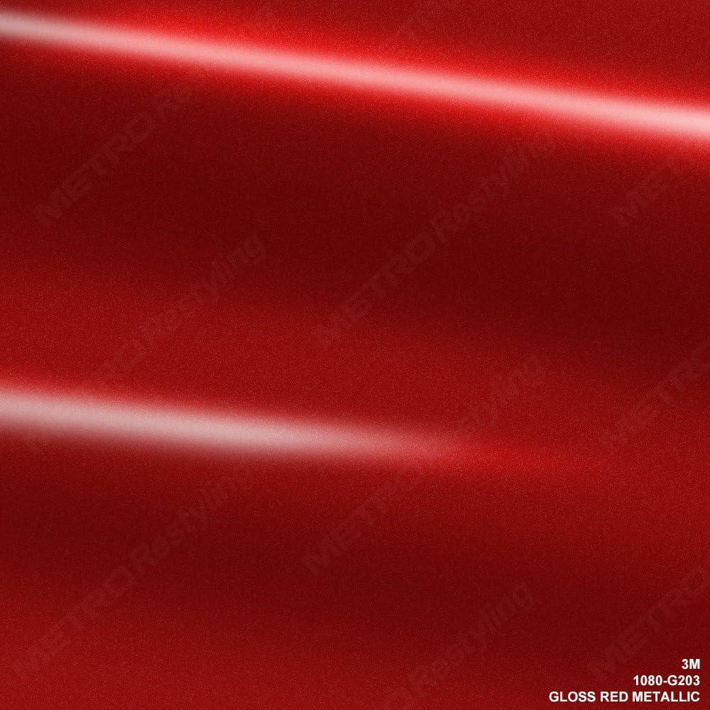 VViViD 3M Gloss Dragon Fire Red Vinyl Film Wrap 12 x 5ft Roll DIY Easy to Install Self-Adhesive 1080 Series