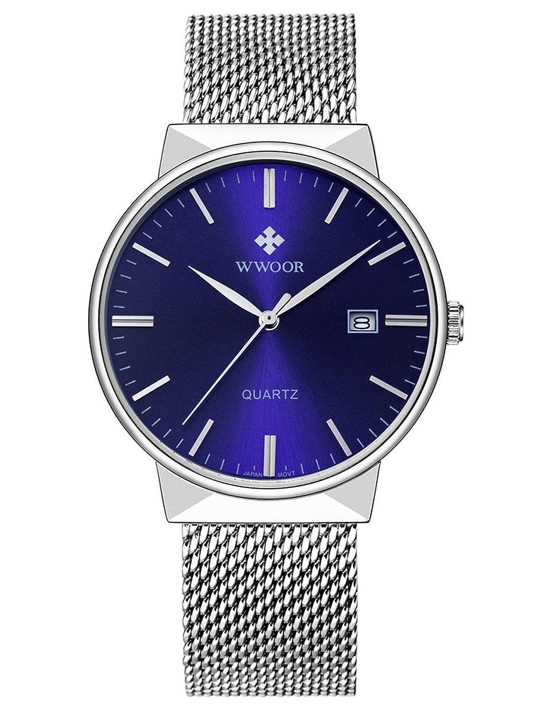 Wwoor - Reloj analógico de cuarzo para hombre, impermeable ...
