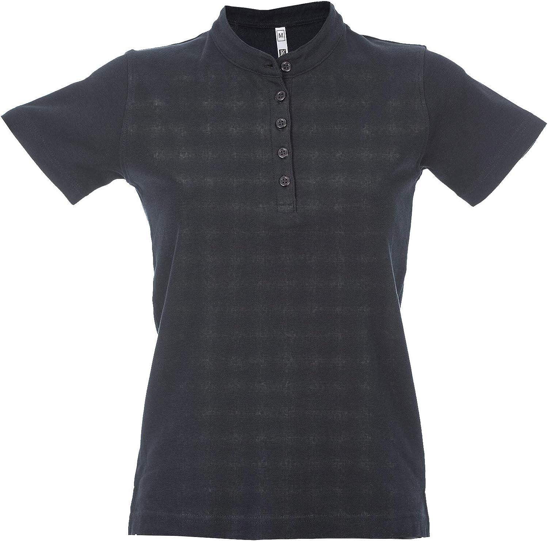CHEMAGLIETTE Polo da Lavoro Donna T-Shirt con Colletto Coreana 100/% Cotone Piquet JRC Kuwait