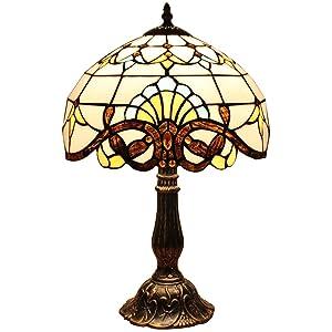 Bieye L30025 - Lampada da tavolo Tiffany Style, 18 pollici