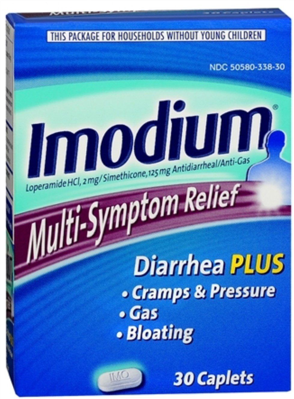Imodium Multi-Symptom Relief Caplets 30 ea (12 Pack) by Pharmapacks