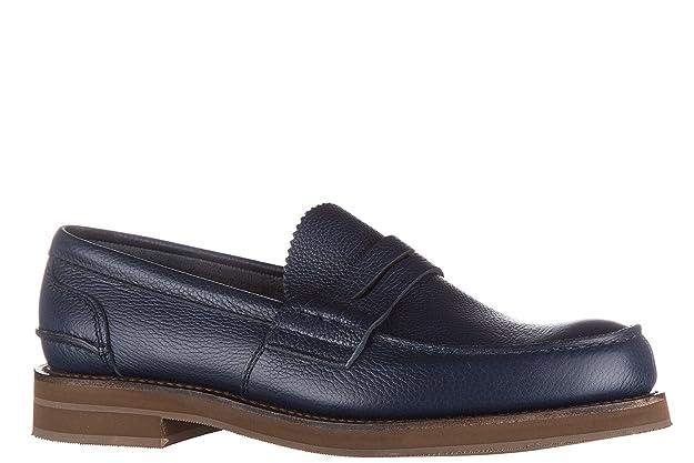 Men's Leather Loafers Moccasins Pembrey Blu