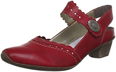 751709adaacf7 Rieker Womens 49765-33 Slingback Red Rot (rosso 33) Size: 42: Amazon ...