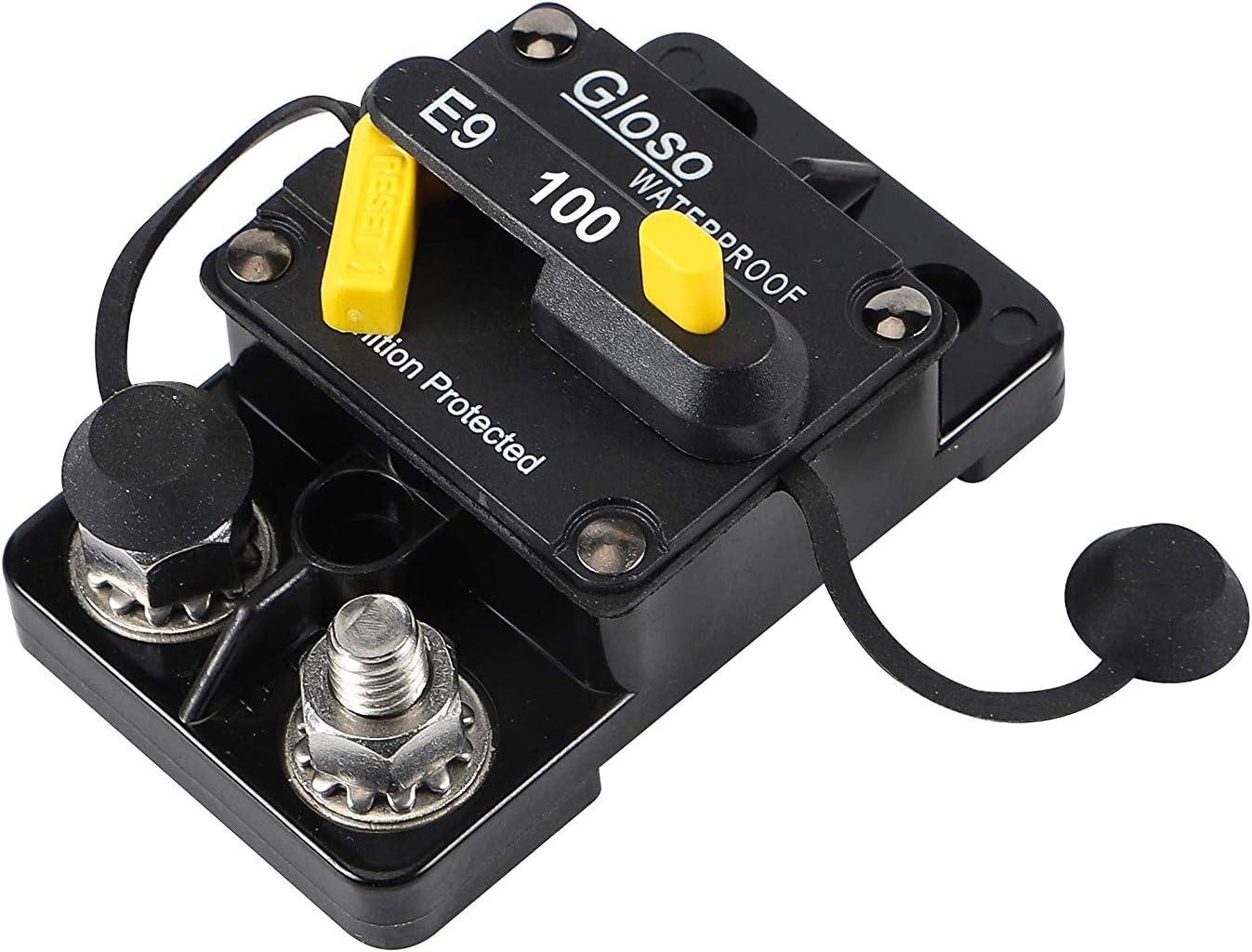 100A GLOSO E9C Waterproof IP67 Marine Auto Truck Hi-Amp Circuit Breaker