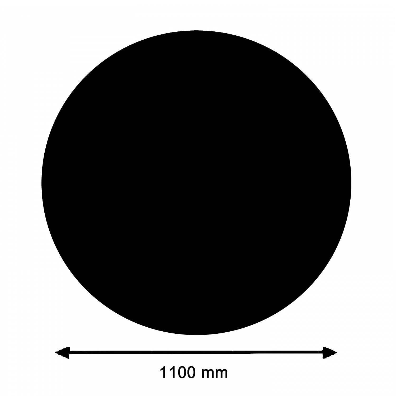 La Nordica L7118152 Kamin Glasplatte Glasplatte Glasplatte Kreis groß, schwarz 7cadc3