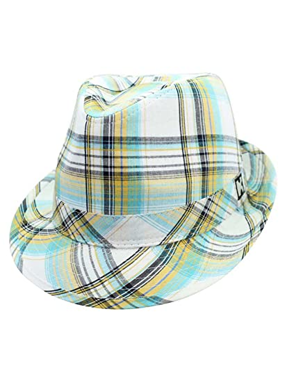 Green Summer Breeze Plaid Fedora Hat at Amazon Women s Clothing store  debce73b7342