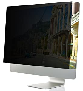 "24-Inch Computer Privacy Screen Filter for Desktop Monitors (Diagonally-Measured); Anti-Glare Anti-Scratch Film; Protects Sensitive Confidential Data (24"" Widescreen (16:9 Aspect Ratio))"