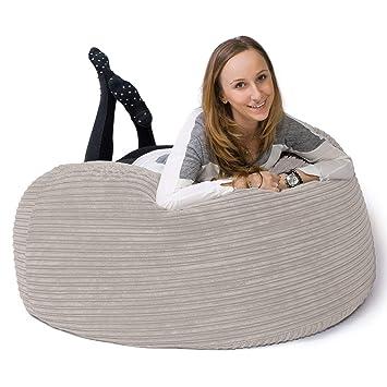 Lounge Pug®, Puff Gigante Sofá Mamut, Pana Clásica - Crema ...
