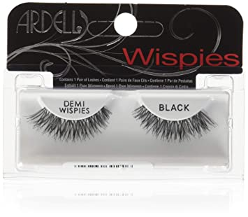79cfaf6d36e ARDELL Invisibands Lashes 100% Human Hair BLACK (Item:Demi Wispies): Amazon. co.uk: Beauty