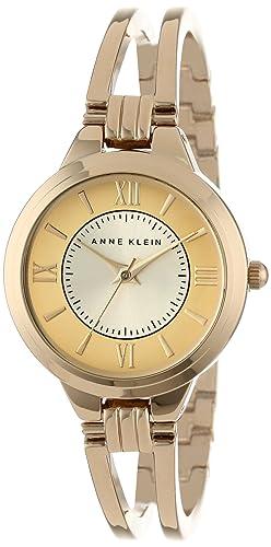 Anne Klein Women s AK 1440CHGB Everyday Classics Gold-Tone Open Bangle Watch