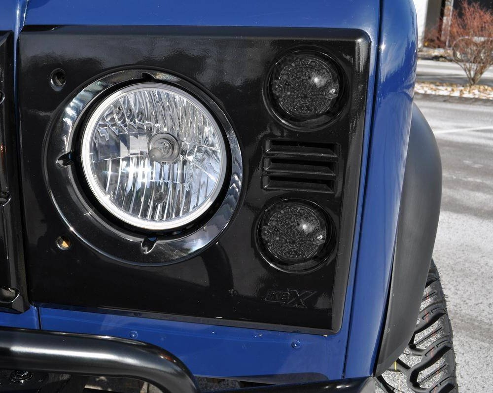 Ijdmtoy 8 Smoked Lens Full Led Kit Front Rear Turn Land Rover Defender Lights Signal Parking Driving Brake Tail Light Assembiles For