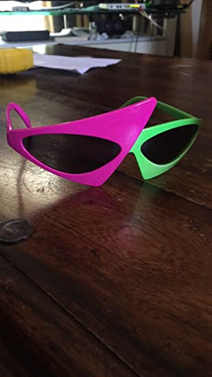 Amazon.com: Roy Purdy Signature Glasses Neon Green And Pink Novelty Glasses: Clothing