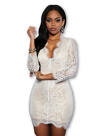 Carolina Dress Vestidos De Fiesta Ropa De Moda Para Mujer Blancos Negros Rojos Sexys Cortos Casuales Dia y Noche Elegantes at Amazon Womens Clothing store:
