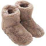Mianshe 北欧 暖かい もこもこ ルームシューズ 男女兼用 足首まで暖かルームブーツ 冬用 防寒 ボアスリッパ (ベージュ Mサイズ 24.5cmくらいまで)