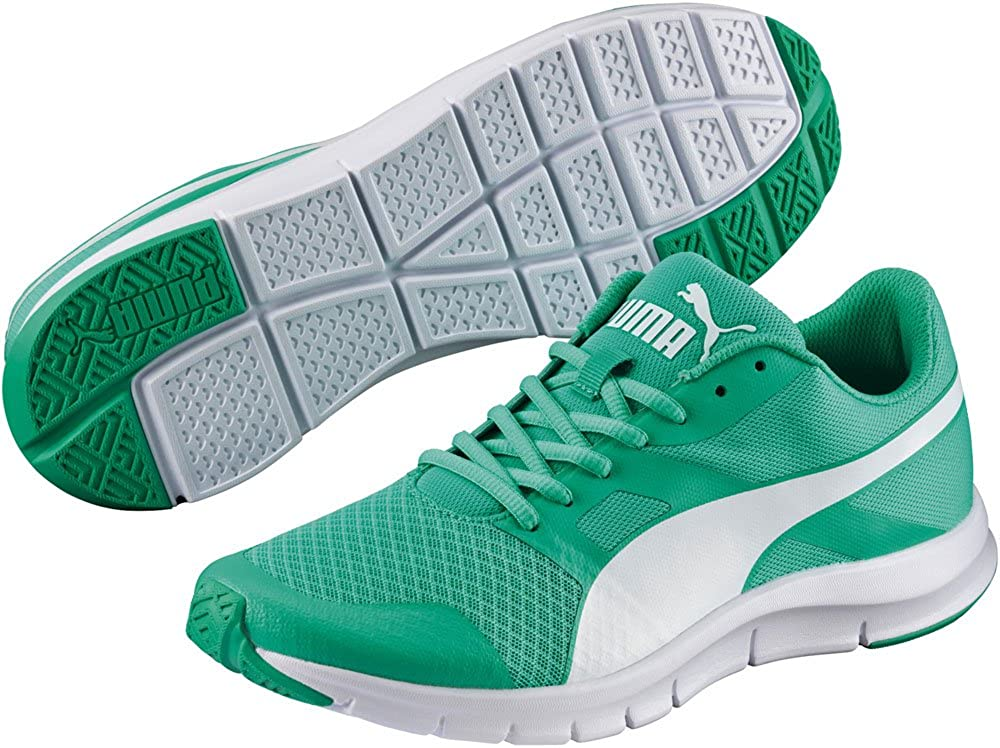 Puma Flexracer, Zapatillas de running Unisex Adulto, Verde (Mint Leaf/White), 47 EU: Amazon.es: Zapatos y complementos