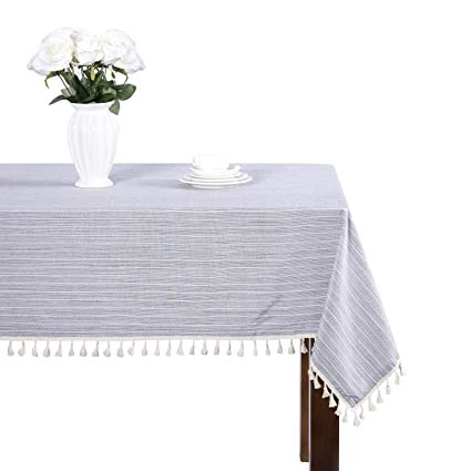 Ordinaire Modern Simple Cotton Grey Striped Tablecloth Party Dining Room Wedding  Tablecloths Rectangular