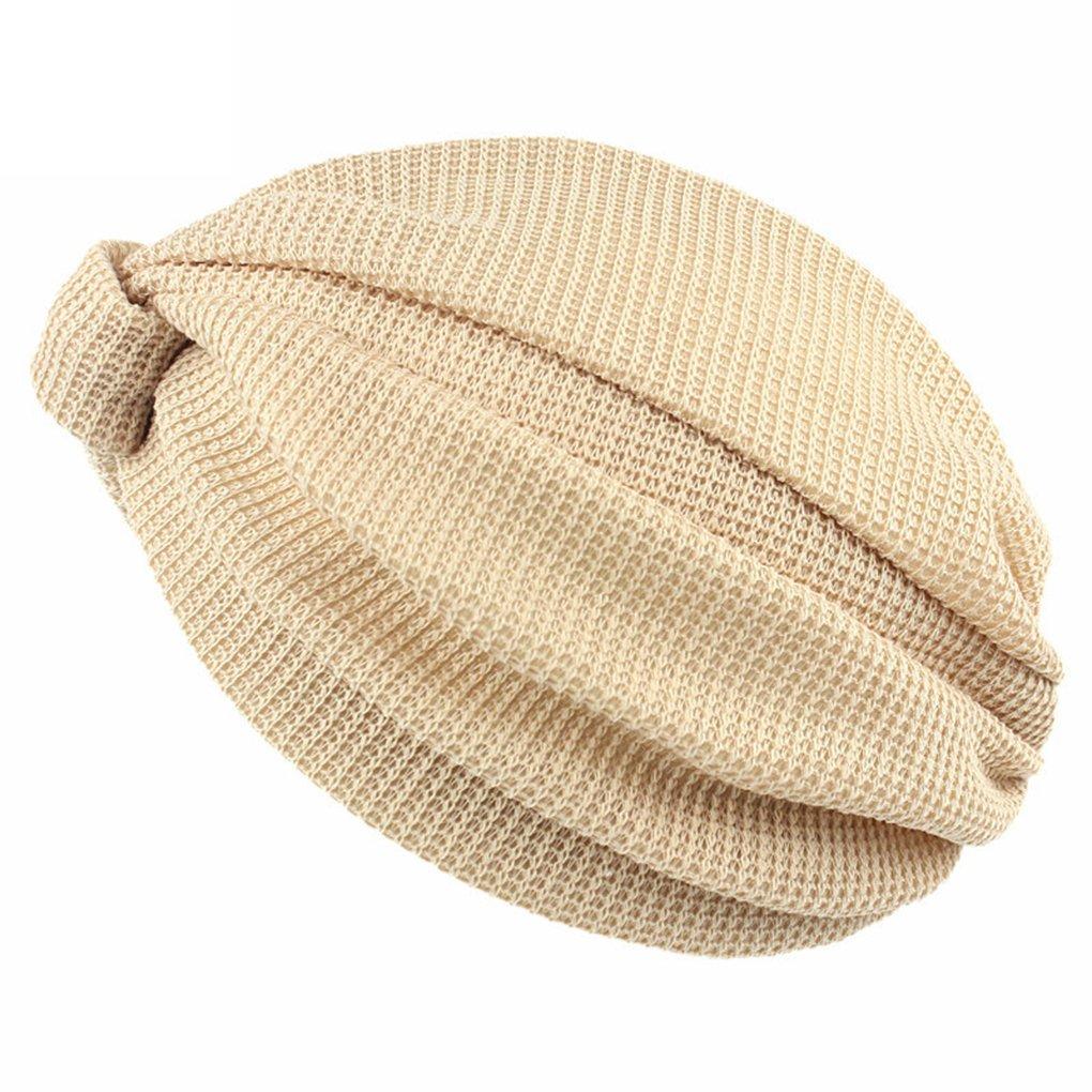 QHGstore Equipaggiata caldo Maglia Croce India Cap Slouchy Baggy protezione del cappello del Beanie delle donne Cachi