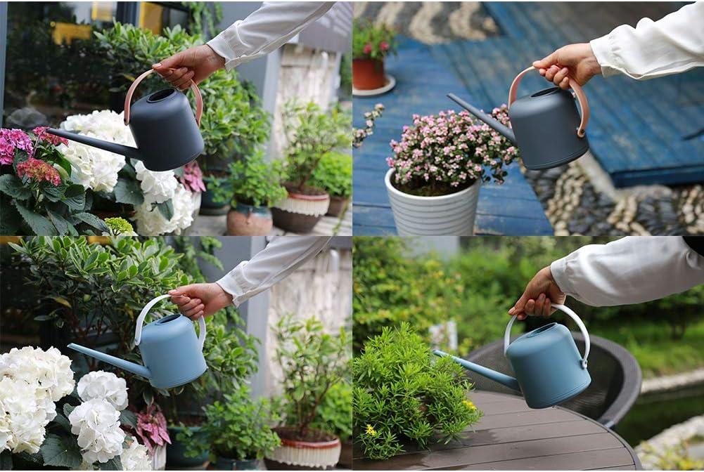 Peque/ña Regadera para Casa Plantar Bonsai Plantas del Cuarto de Interior SPDYCESS Regadera pl/ástica 1,7 litros Regadera de Interior con Cuello Largo Boca Larga