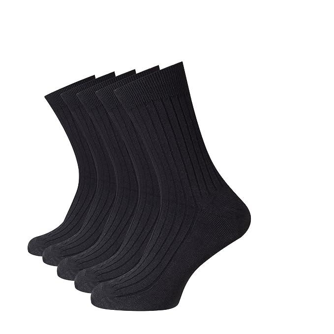 Beauty7 Kits 5 Pares Calcetines de Algodón Medios Largos Deportivos Transpirables Invierno Reforzados en Talón y Puntera para Hombre Talla EU 40-44, ...