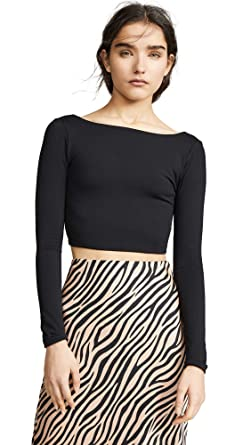 25a70a0645718f Amazon.com: Susana Monaco Women's Scoop Back Crop Top, Black, X ...