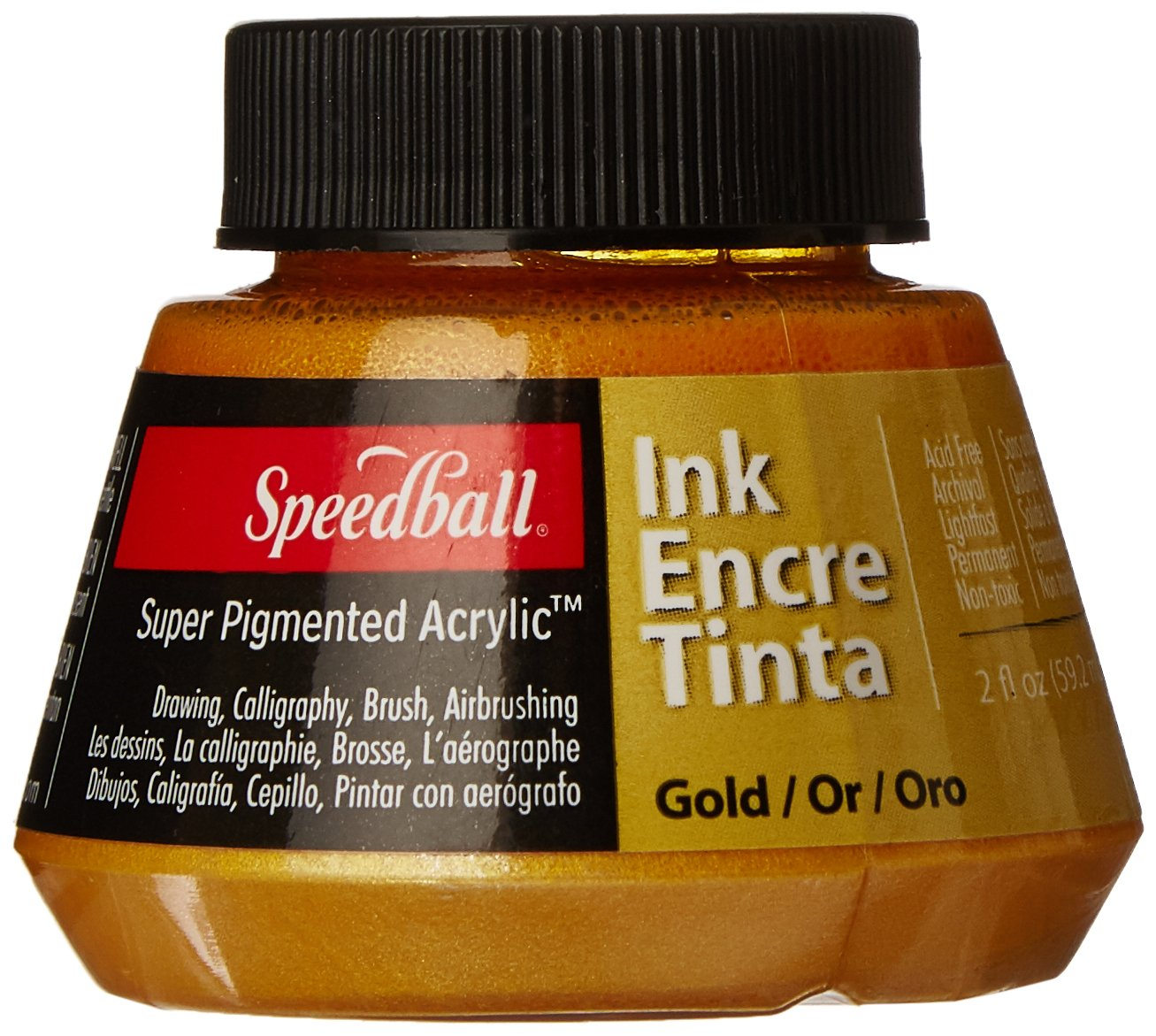 Speedball 2 oz Super Pigmented Acrylic Ink, Silver Notions - In Network SB31-57