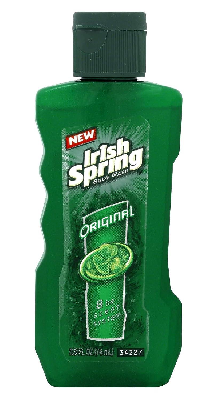 Irish Spring Original Body Wash 24 Hour Fresh 2.5 Oz Travel Size (Pack Of 3)