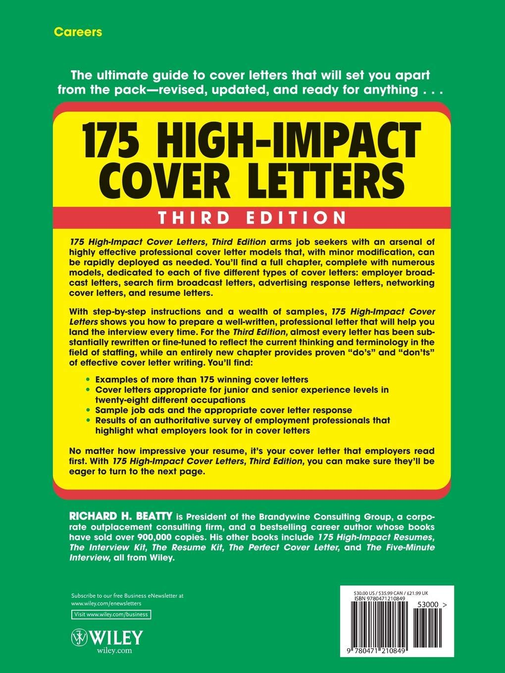 175 High-Impact Cover Letters: Richard H. Beatty ...