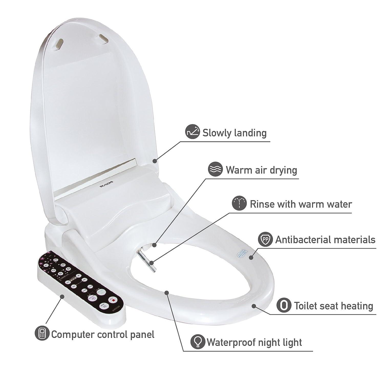 PENSON /& CO CB70 Advanced Smart Bidet Elongated Toilet Seat White Cotton