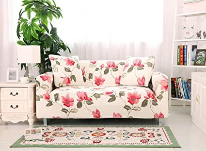 Merveilleux Fanjow Stretch Elastic Fabric Chair Loveseat Sofa Couch Slipcovers Floral  Printing Sofa Covers Seat Protectors Without
