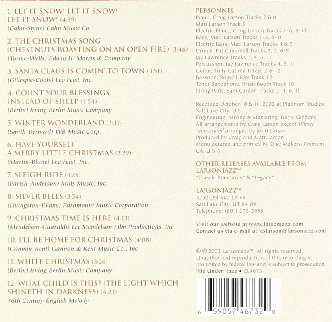 Craig Trio Larson & Friends - Holiday Songbook - Amazon.com Music