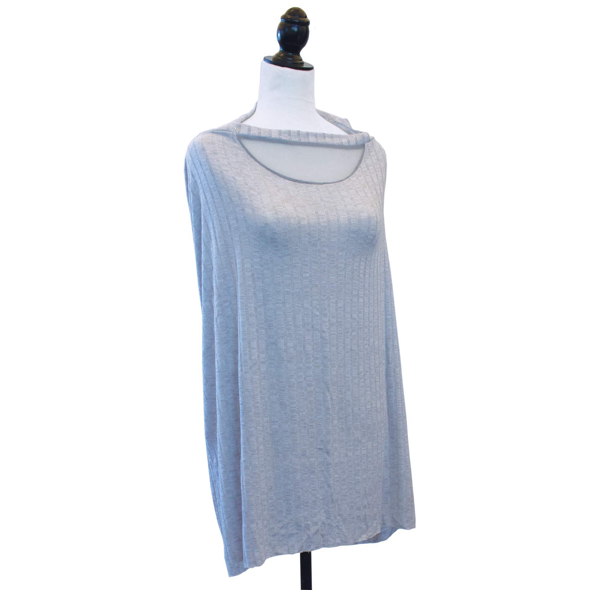 Boppy Infinity Nursing Scarf, Silver Gray, fashionable nursing cover for breastfeeding by Boppy