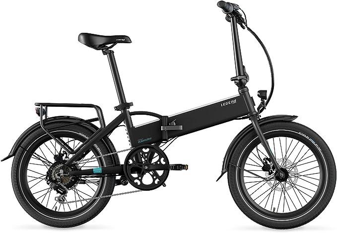 LEGEND EBIKES Monza 36V8Ah Bicicleta Eléctrica Plegable, Unisex Adulto, Negro Onyx, Talla Única: Amazon.es: Deportes y aire libre