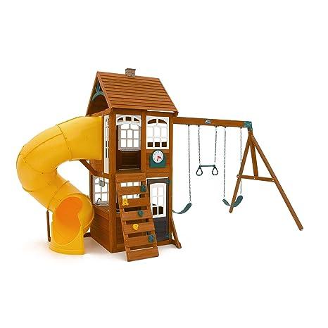 Amazon Com Creston Lodge Swing Playset Cedar Summit Kidkraft Toys