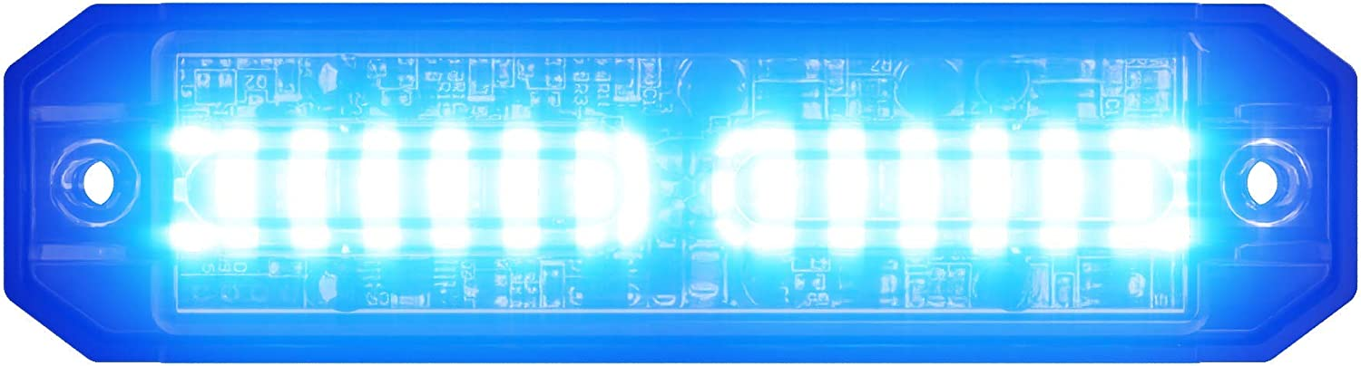72W 3 Selectable Modes Abrams Ultra Series SAE Class-1 18 LED Police Fire EMS EMT Security Vehicle Truck LED Grill Light Head Surface Mount Strobe Warning Light Red//Amber//White Tri-Color