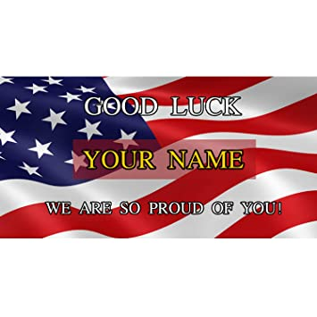 Amazon com: BANNER BUZZ MAKE IT VISIBLE Good Luck We are So Proud of