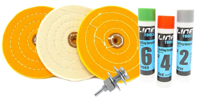 Metal Buffing Polishing Kit [6 inch Wheels] LINE10 Tools