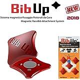 BIBUP 2018 -- 5 Coppie Sistema Magnetico Fissaggio Pettorali da Gara (ROSSO)