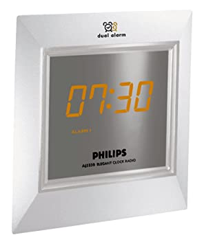 Philips - Radio (Reloj, AM,FM,MW, Ámbar, 4 dígitos, Azul, Plata, Giratorio): Amazon.es: Electrónica