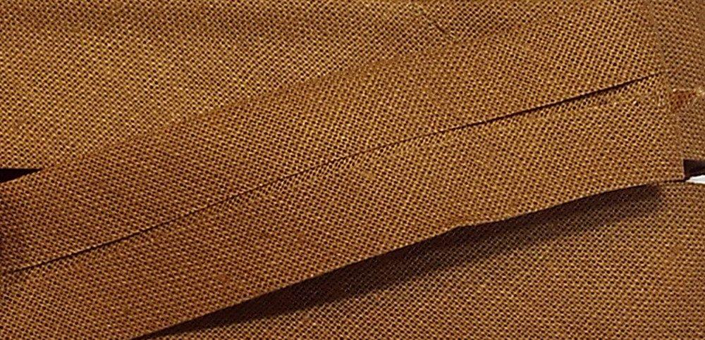 5 m Baumwollschr/ägband cognac 32//16 mm