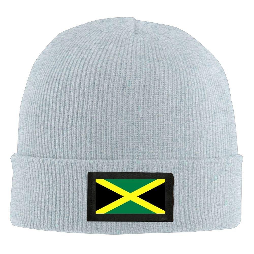 D-T-D Man Jamaican Flag Printed Winter Warm Beanie Hats Skull Cap Black