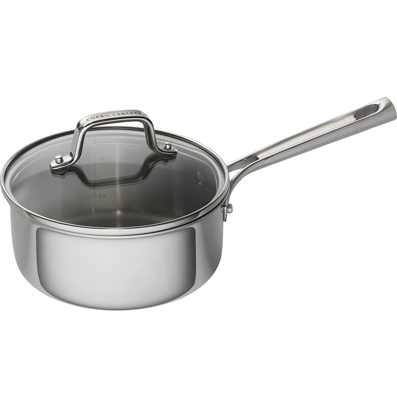 Emeril Lagasse 62855 Steel Saucepan, 2 quart, Silver