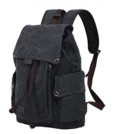 990ffa1318f0 Amazon.com  WOMACO Vintage Canvas Backpack Rucksack Unisex Travel ...