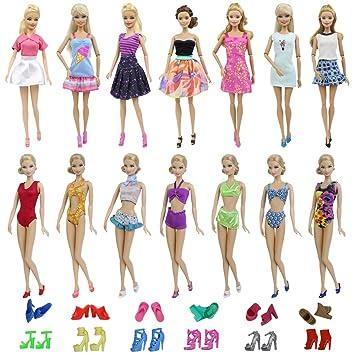Amazon.es: ZITA ELEMENT Traje de Baño y Ropa Barbie 15 Piezas ...