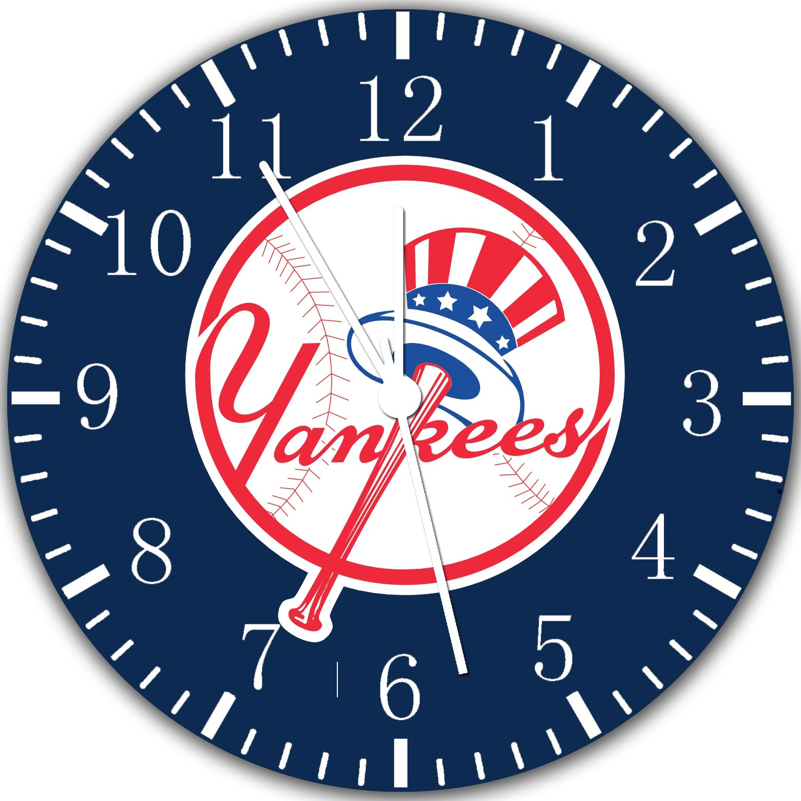 Yankees Borderless Frameless Wall Clock W103 Nice For Decor Or Gifts