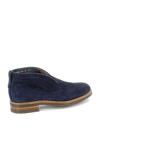 Santoni Hombre MCCO15722UL7IUEEU55 Azul Gamuza Botines: Amazon.es: Zapatos y complementos