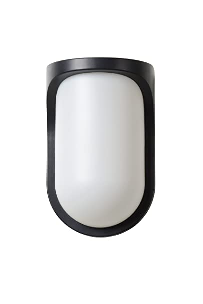 Lucide Lugo - Lámpara de pared exterior - LED - 1 x 8 W 3000 K - IP44 - Negro: Amazon.es: Iluminación