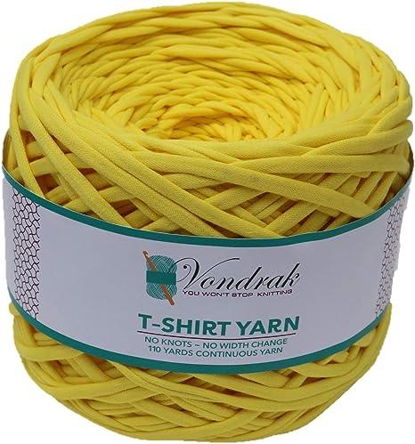 Hilo para camiseta, no reciclado, 100% algodón, 110 yardas, 1.1 libras, tejido de lana, para crochet, para tejer camiseta, voluminoso: Amazon.es: Juguetes y juegos